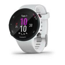 Garmin Forerunner 45S Schwarz mit Silikon-Armband 18mm Weiß Fitness Tracker