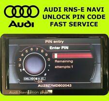 AUDI RNS-E NAVI CAR RADIO UNLOCK PIN CODE TT A3 A4 A6 A8 Q3 Q5 RS3 RS4 RS5 FAST