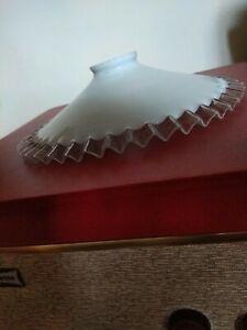 Vintage French Coolie Light Shade Opaline Piecrust