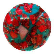 Coin Sea Sediment Jasper & Turquoise  Pendant Bead 40*40*6mm M273