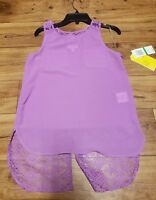 New With Tags GB Girls Gianni Bini Size Large Purple Top Blouse Lace Pockets