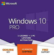 WIN 10 PROFESSIONAL 32/64 BIT ACTIVATION LICENSE PRODUCT KEY