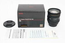 Sigma Af 24-70mm f/2.8 If Ex Hsm Dg Lens Canon Ef Digital Eos Camera - Excellent