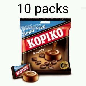 10 Packs x75g KOPIKO *SUGAR FREE* Coffee extract hard Candy