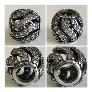 PANDORA CLEAR PAVED OPENWORK WAVES CHARM REF 791197CZ RRP £45.00 DISCONTINUED