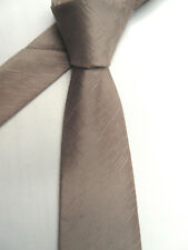 MARKS & SPENCER AUTOGRAPH BEIGE 3.5 INCH POLYESTER NECK TIE