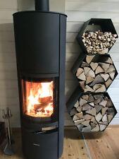 Großes Kaminholzregal Brennholzregal Hexagon XL bis zu 30cm Scheite 0,20m3 3-tl.