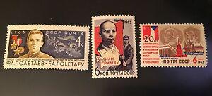 1963, Russia, USSR, 2818, 2819, 2817, MNH