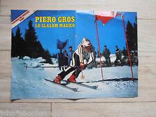 PIERO GROS SLALOM SCI CAMPIONE POSTER ANNI 70 AZZURRI 1970's SKI POSTER ITALIAN