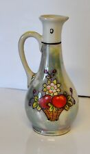 "Hand Painted Small Pitcher~Bud Vase Made in Japan 5"" tall"
