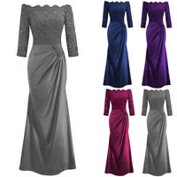 Women Off Shoulder Formal Long Maxi Evening Party Cocktail Bridesmaid Dress Sale
