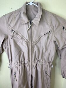Modified Flight Suit Coveralls Tan Funny Ghostbusters Halloween Costume Hunting