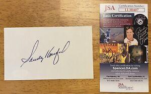 Sandy Koufax Signed Autographed 3x5 Index Card JSA Certified Dodgers