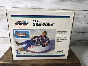 """NEW NOS Vintage Intex 39"""" The Sport Set Snow/Water Tube Sled Strong S-80 Vinyl"""