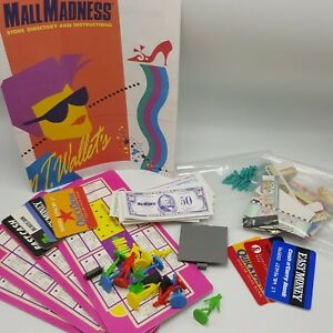 Mall Madness Game 1989 Replacement Pieces Parts Token Windows Money List