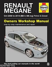 Haynes Car Workshop Repair Manual Renault Megane (Oct '08-'14) 58 to 64