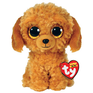 NEW Noodles Ty Beanie Boos - Tan Golden Doodle dog - MWMT- FREE SHIPPING