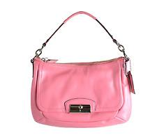 Coach Kristin Rose Pink Leather Crossbody Hobo Handbag Messenger Purse F22308