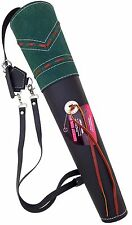NEW TARGET FINE MILD BLACK LEATHER BACK ARROW QUIVER ARCHERY PRODUCT AQ -163