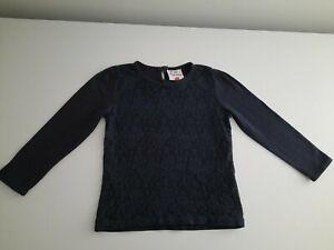 Pull T-Shirt manches longues Topolino 6 ans Bleu Marine 100 % Coton