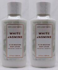 2 Bath Body Works WHITE JASMINE Body Lotion Shea & Vitamin E 8 oz