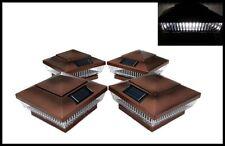 6-PACK GARDEN SOLAR COPPER POST DECK CAPS SQUARE ASSORTED COLOR LEDS