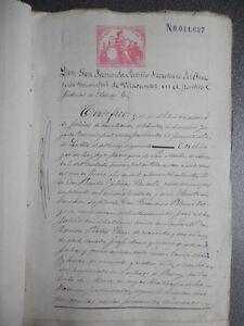 MANUSCRITOS AÑOS 1880 FISCALES 10ºS Y 11º CORUÑA ARZUA JUICIO DE CONCILIACIÓN