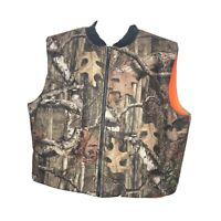 Cabelas Mens Camo Camouflage Reversible Hunting Vest Size XXL 2XL Ex Condition