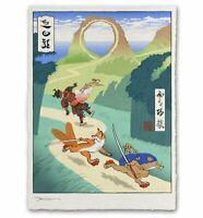 Sonic the Hedgehog Japanese Edo Style Giclee Limited Poster Print 12x17 Mondo