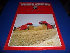 (Drawer 9) Welger RP150 RP180 Round Roll Balers Sales Brochure Farm Specs