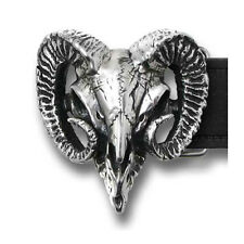 NEW Alchemy Gothic RAM'S SKULL 3D BELT BUCKLE inc. Sign Del. B95