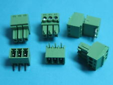 10 pcs Pitch 3.5mm Angle 3way/pin Screw Terminal Block Connector Pluggable Type