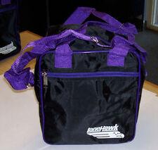 1 Ball Tote  Bowling Bag Black  Purple trim  Kids, Spare ball Bag  NoShoeStorge
