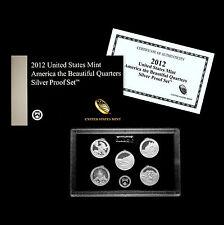 2012 S America the Beautiful National Parks Silver Proof Set ~ U.S. Mint Box/COA
