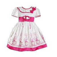 Vestido Niña Dama De Honor Flores Fiesta en morado Color De Rosa Caliente Azul 9