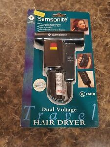 (BRAND NEW) SAMSONITE (DUAL VOLTAGE) COMPACT 2 SPEED FOLDING HAIR DRYER TRAVEL