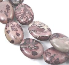 18x13mm Natural Apache Sage Picture Jasper Oval Beads (10)