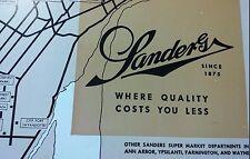1956 Sanders Store Menu Detroit MI  Mich Michigan Book Cadillac Hotel JL.Hudsons