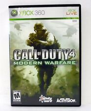CALL OF DUTY 4: MODERN WARFARE Microsoft XBox 360 Game COMPLETE w/MANUAL 2007