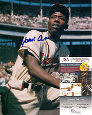 Hank Aaron Signed 8x10-JSA COA-Baseball Hall of Fame-Milwuakee Atlanta Braves