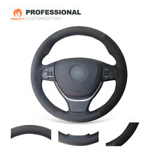 Black Leather Suede Steering Wheel Cover for BMW 5 Series F07 F10 F11 F18 F06 M5