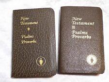 2 GIDEONS POCKET SIZE BIBLE NEW TESTAMENT PSALMS PROVERBS KING JAMES