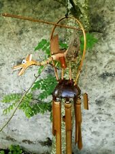 Garden Wind Chime Mobile Bamboo Hanging Dragon Coconut Fair Trade Hand Made