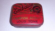 Vintage Embassy Gramophone Loud Tone Needles & Tin British needle Co FREE UK P&P
