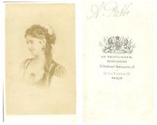 La cantatrice italienne Adelina Patti CDV vintage albumen carte de visite, Tir