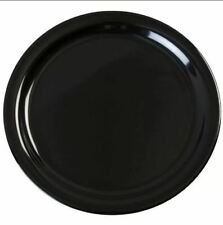 "4 EDGO Melamine Plates Round Black 8.5/"" Party Picnic BBQ Buffet Reusable Strong"