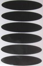 casque  6 bandes moto reflechissant autocollant adhesif NOIR PRODUIT ALLEMAND