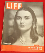 Life Magazine June 9, 1947 Vintage Ads Welches Juice, Shell Oil, Very Good Cond.