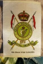 Vintage Tobacco silk silks 5th Royal Irish Lancers
