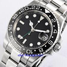 Parnis 40mm Sapphire Glass Ceramic Bezel Men's Automatic 2813 Movement GMT Watch